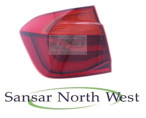 BMW 3 Series F30 Saloon - Passenger Rear Lamp Tail Light Outer LED - N/S LEFT
